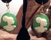 Nubian Cameo with Emerald background.