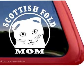Scottish Fold Mom | DC951MOM | High Quality Adhesive Vinyl Window Decal Sticker