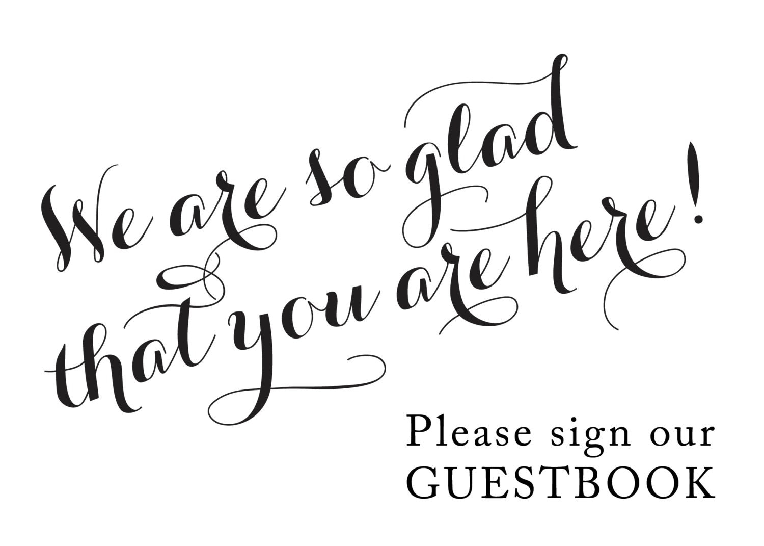 Ambitious image pertaining to please sign our guestbook free printable