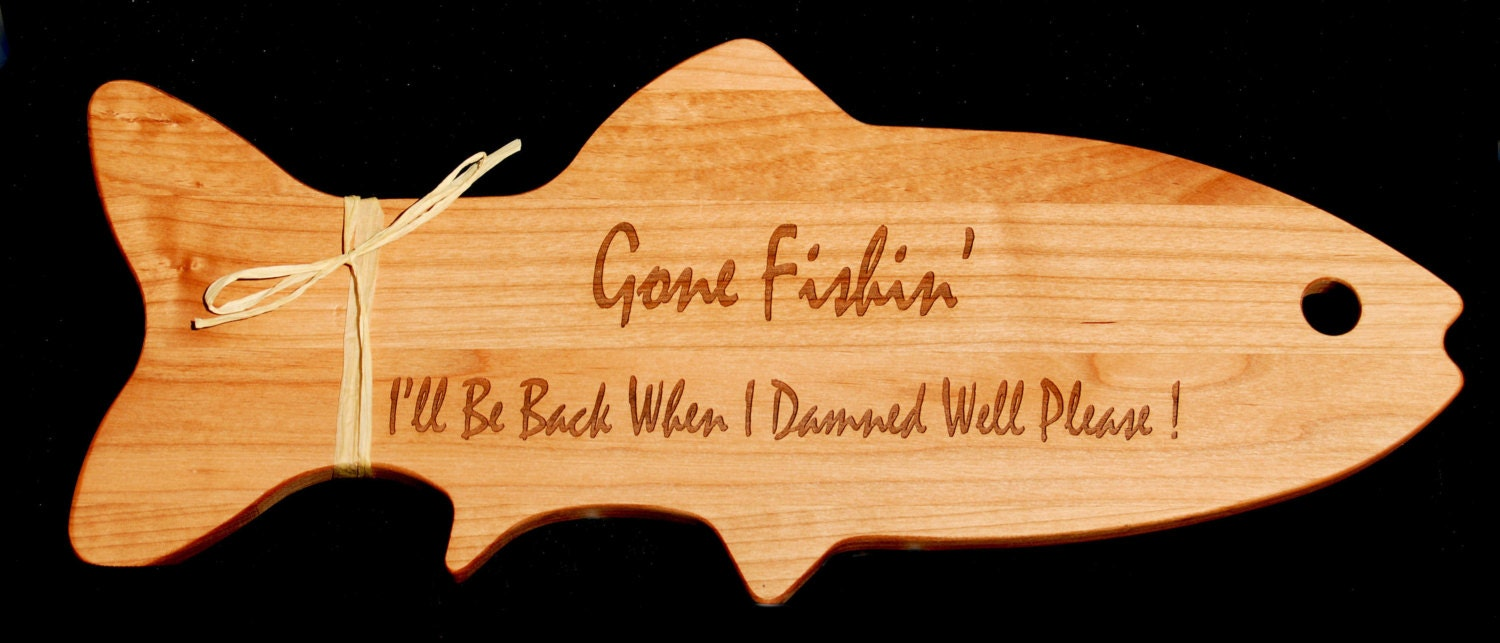 Gone fishing fishing decor sign fly fishing for Fly fishing decor