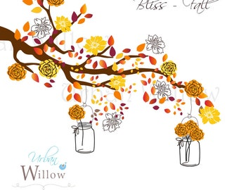 BLISS - Fall, clip art set in premium quality 300 dpi, Png and Jpeg files.