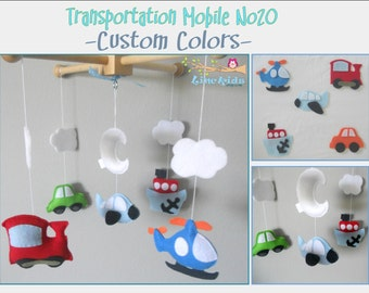 Baby Crib Mobile-Cars Airplane Train and Boat Mobile-custom Made Mobile-Transportation Mobile