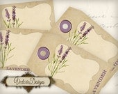 Lavender Tags and Labels printable add text paper craft art hobby crafting scrapbooking instant download digital collage sheet - VD0510