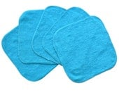 Baby Washcloths Teal, Cloth Wipes, Reusable Wipes, 10 Pack
