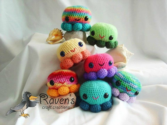 OctoSqueedle -Funds Diabetes Research Amigurumi Octopus toy -MADE to ORDER-
