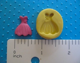 DRESS mold  flexible food safe silicone Mold great for making wedding cake pops balls cupcakes fondant polymer clay tool