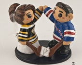 hockey player wedding cake topper custom made wedding cake toppers and more by 15259