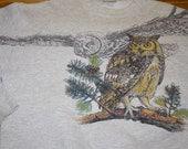 Vintage Owl Crew Neck Sweatshirt