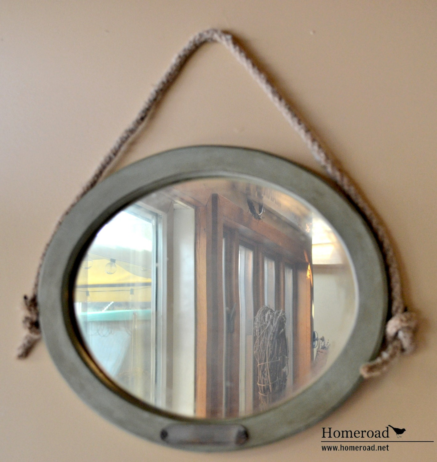 Antique nautical hanging mirror for Hanging mirror