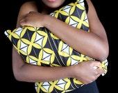 African Khanga Fabric Cushion