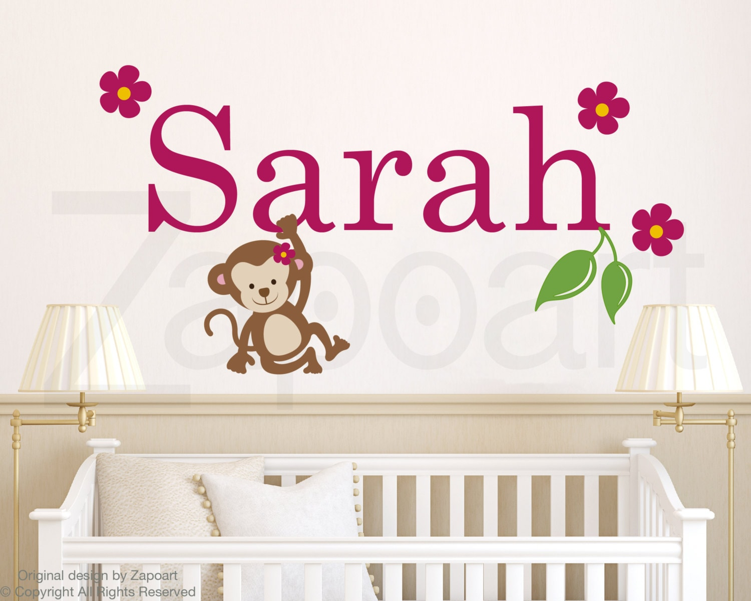 girl wall decals etsy color the walls of your house