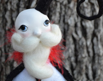 Whimsical Santa - Christmas Decor - Art Doll Santa - Gothic Santa - Made To Order