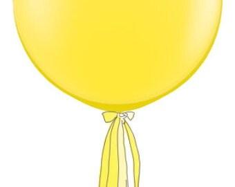 3' Round Designer Balloon w/Tassel