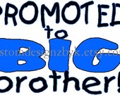 boys Promoted Big Brother iron-on shirt decal NEW by kustomdesignzbyk