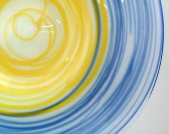 Yellow and Blue Abstract Wrap Platter