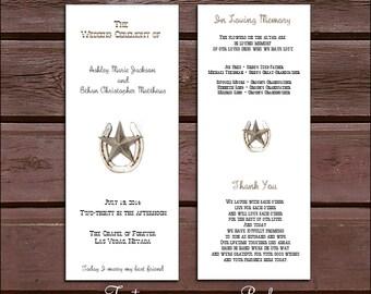 100 Western Rustic Wedding Ceremony Programs