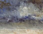 Prairie Winter — Original Oil Painting, Landscape Painting, Abstract Landscape, Original Painting, Abstract Oil Painting, Fine Art, 5 x 7