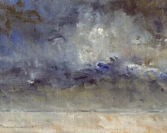 Prairie Winter — Original Oil Painting Landscape Painting by John W. Shanabrook, 5 x 7