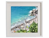 "Fine Art Photography - Vernazza Beach - Italian Riviera Series - Square ( 12""x12"" & custom sizes. Please Inquire)"