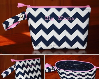 Large Personalized Diaper Clutch, Custom made Compact diaper bag, Baby shower gift idea, Baby Travel Organizer Bag.