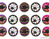 """15 Batty for Candy 1 Digital Download for 1"""" Bottle Caps (4x6)"""