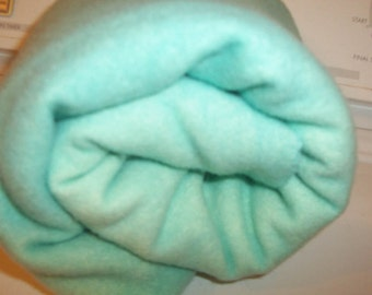 Seafoam - blue - mint - green 4 Hand-dyed Felted/fulled 100%  Pendleton Wool