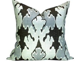 Bengal Bazaar pillow cover in Graphite