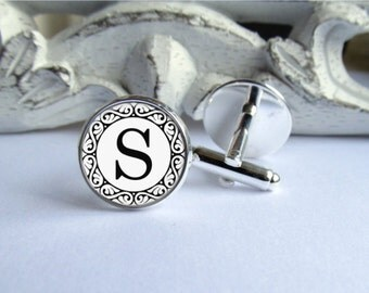 Personalized Monogram Cufflinks, Custom Cuff Links, Gift For Him