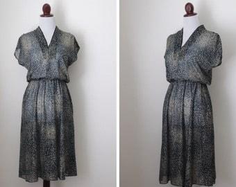 Vintage Semi-Sheer Ro-Le' Dress / Sky at Night