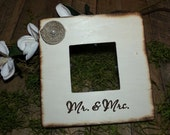 Rustic Personalized Wedding Picture Frame for Mr. & Mrs.