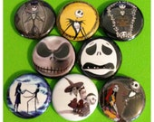 """8 Brand New 1"""" """"Nightmare Before Christmas"""" Button Set"""