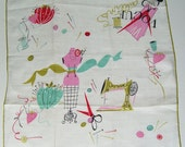Vintage Pat Prichard Sewing Notions Dressform Vogue Hankie