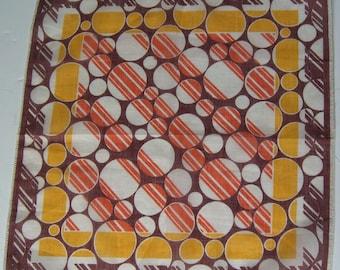 Vintage 1930s Geometric Deco Hankie