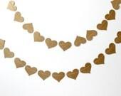 Kraft Paper Heart Garland - Valentines Day - Birthday, Party Decor - Wedding Decoration - Baby Shower - Bridal Shower - SweetPaperLove