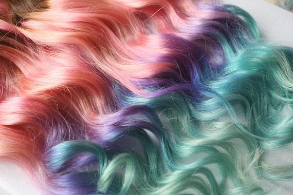 Clip in pastel hair extensions pink hair hair weave wide like this item pmusecretfo Gallery