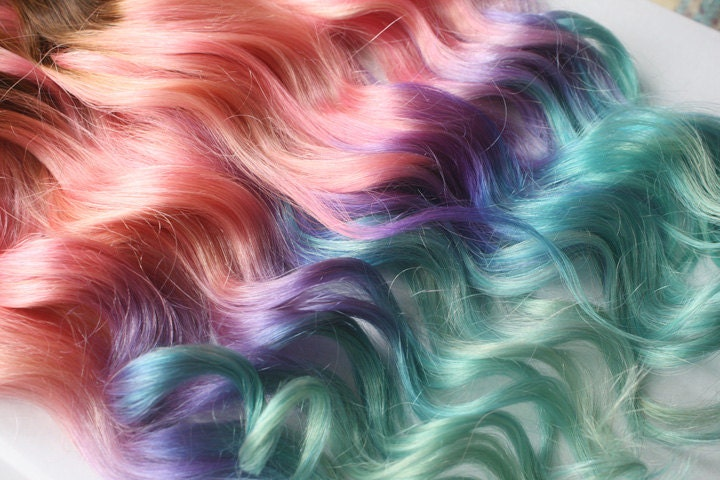 Clip in pastel hair extensions pink hair hair weave wide request a custom order and have something made just for you pmusecretfo Choice Image