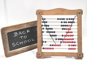 Vintage french wooden abacus toy Back to school - verylilly