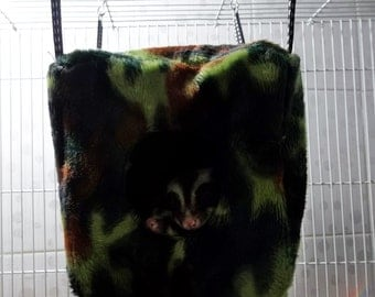 """CUTE 5"""" Sugar Glider-Rat Hanging 2 side  Fleece CUBE TENT and Metal hooks washable"""