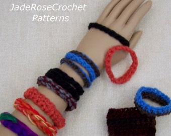 Crochet Bracelet Pattern, Crochet Jewelry Patterns, Crochet Bangles Pattern, Crochet Handlet Pattern, Bangle Bracelets to Crochet, PDF603