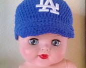 LA Dodgers baby beanie