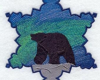 Polar Bear Snowflake Embroidered Flour Sack Hand/Dish Towel