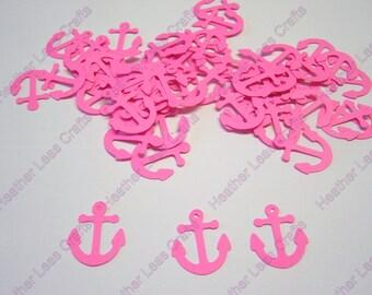 Hot Pink Anchor Confetti, Anchor Die Cut, Pink Nautical Confetti, Nautical Baby Shower, Nautical Theme, Anchor Cut Out, Nautical Wedding