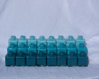 Teal Ombre Mini Vases - 2 dozen