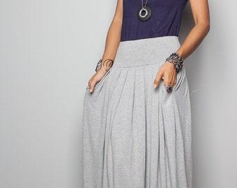 Maxi Skirt -  Long Light Grey Skirt : Urban Chic Collection No.2w