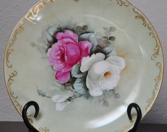 Hand painted china plate by Anna R Peters, Anna Peters, Peters, Ana Peters