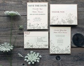 RESERVED for Sarah - wildflower floral wedding - invitations, response cards, enclosure cards