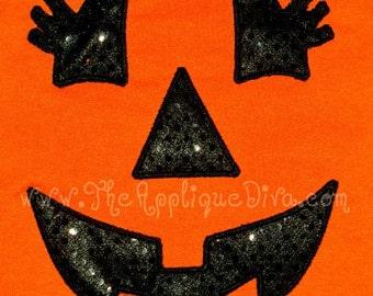 Halloween Girl Jack o Lantern Embroidery Design Machine Applique