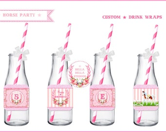 HORSE DRINK WRAPS ~ Personalized Printable Download