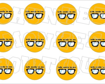 Talk Nerdy to Me bottlecap image sheet