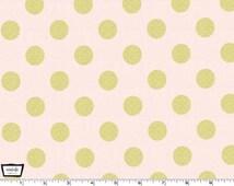 Glitz - Quarter Dot Pearlized Confection Pink - 100% cotton print metallic from Michael Miller